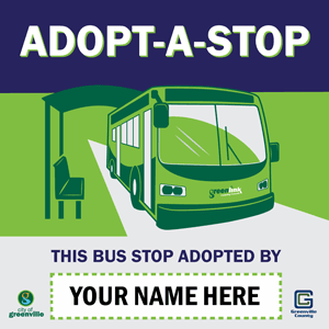 adopt-a-stop sample sign