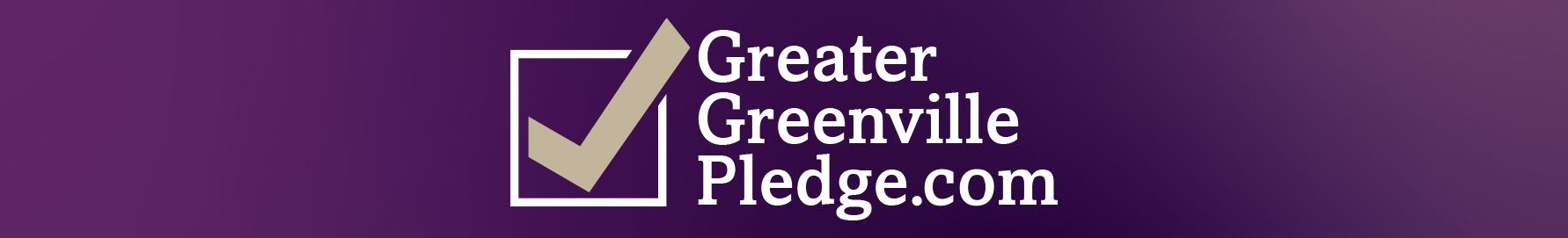 Greater Greenville pledge web banner