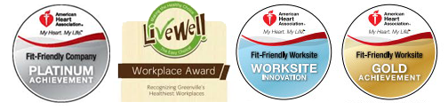 Award medals for fit-friendly worksites and fit-friendly company